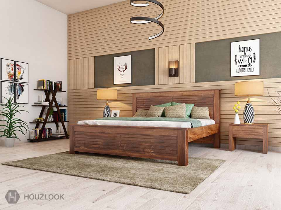 Charlotte King Size Bed Without Storage Houzlook,Creative Yearbook Cover Design Ideas