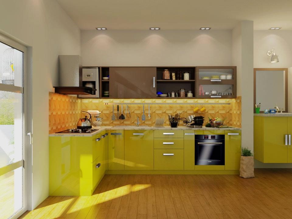 9 X7 Phoenix L Shape Kitchen Houzlook