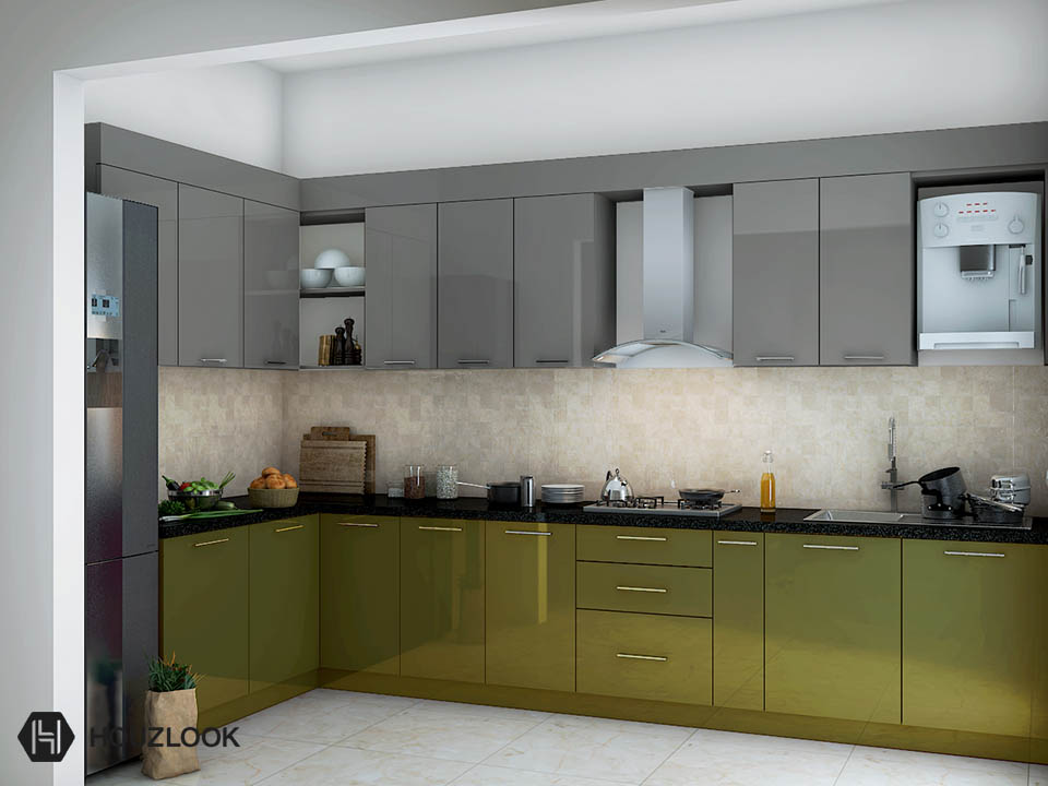 12 X10 Elegant L Shape Kitchen Houzlook