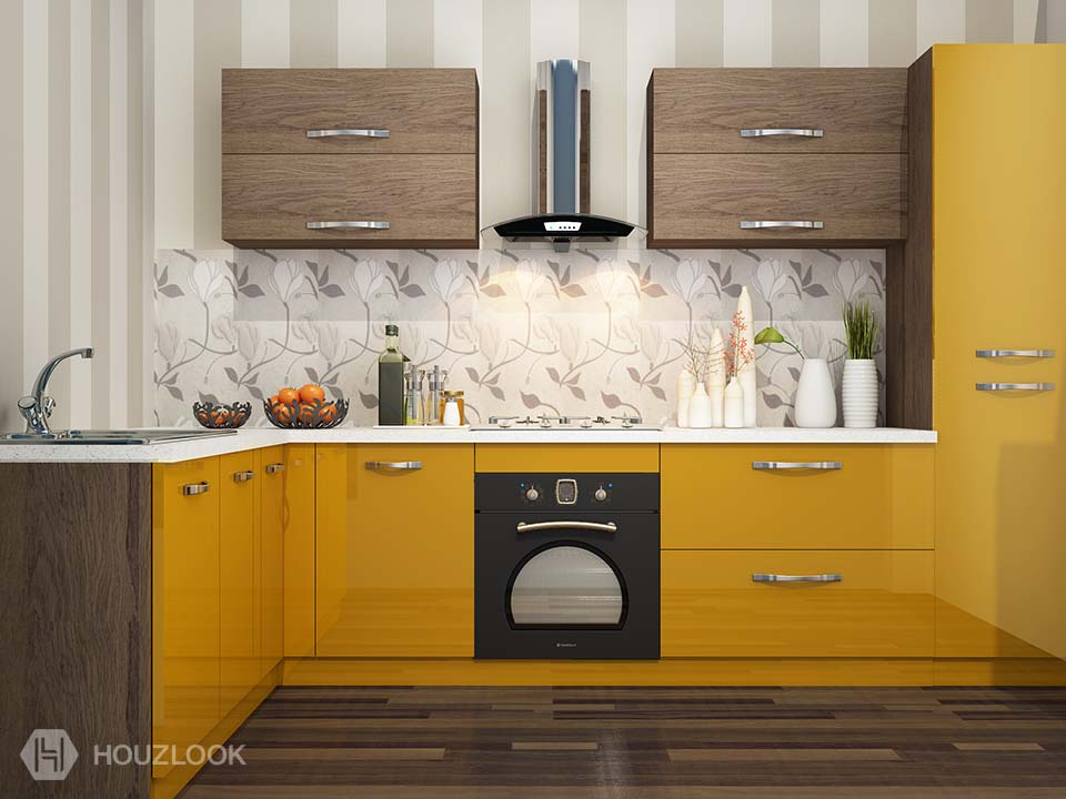 10 X7 Orchid L Shape Kitchen Houzlook