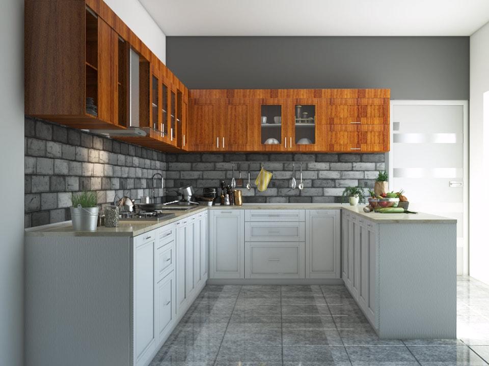 8 X12 X8 Harmony U Shape Kitchen Houzlook