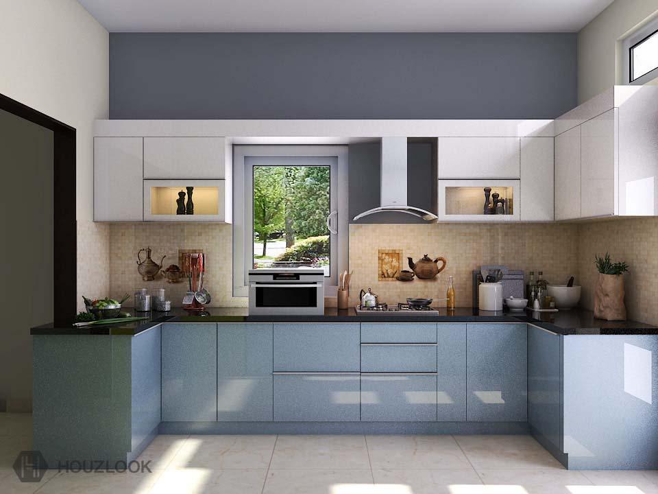 7'X8'X11'-Supremo-U-Shape-Kitchen | Houzlook