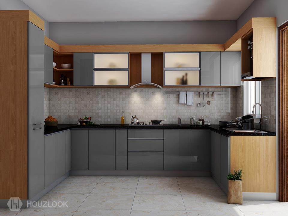 5 X10 X5 Elegant U Shape Kitchen Houzlook